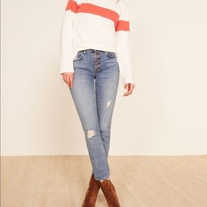 Reformation Winona Mid Slim Jeans (Sold out NWT)